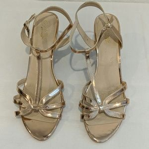 Seychelles Heritage Rose Gold Heeled Sandals